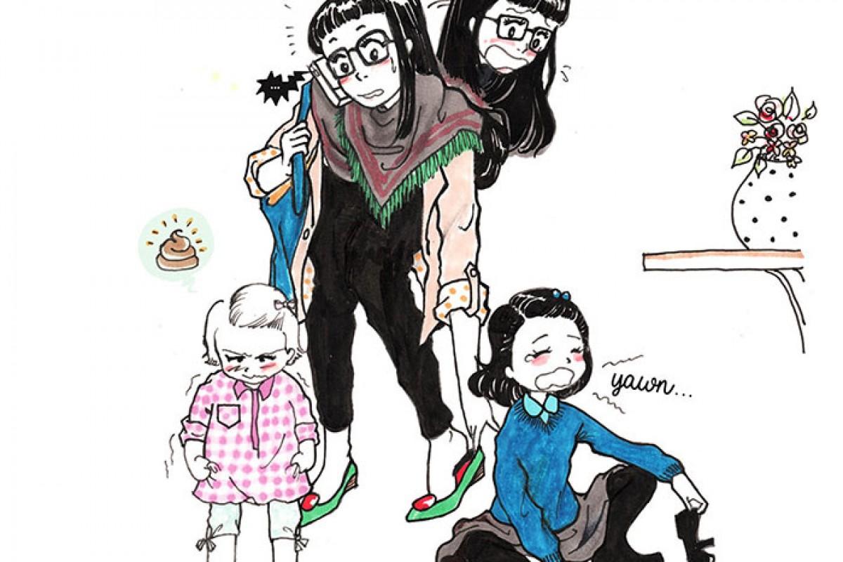 Μαμά εμπνέεται από την καθημερινότητά της και δημιουργεί μια σπαρταριστή σειρά κόμικ