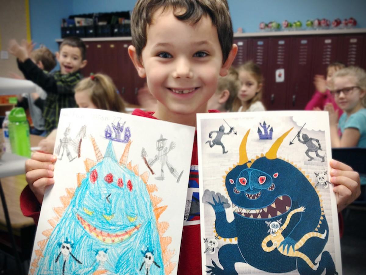 Καλλιτέχνες δίνουν νέα πνοή σε παιδικές τερατοζωγραφιές