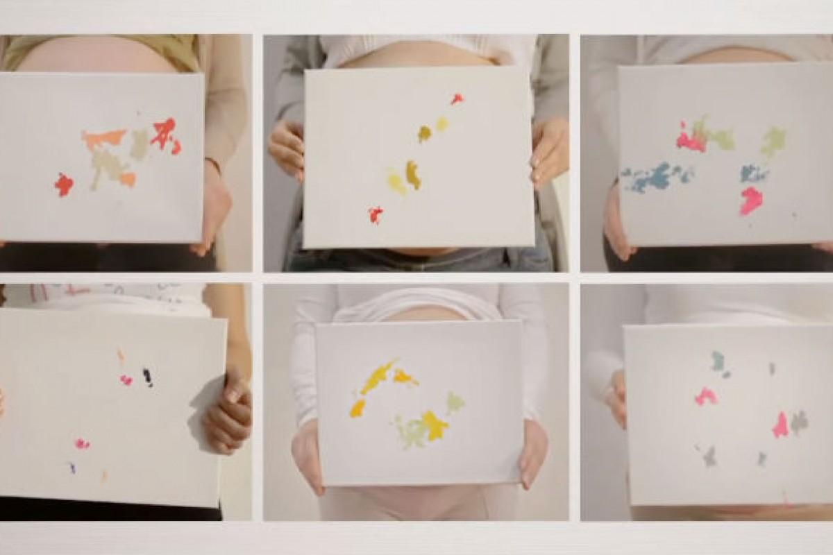 Μωρά μέσα από την κοιλιά της μαμάς τους δημιουργούν πίνακες ζωγραφικής