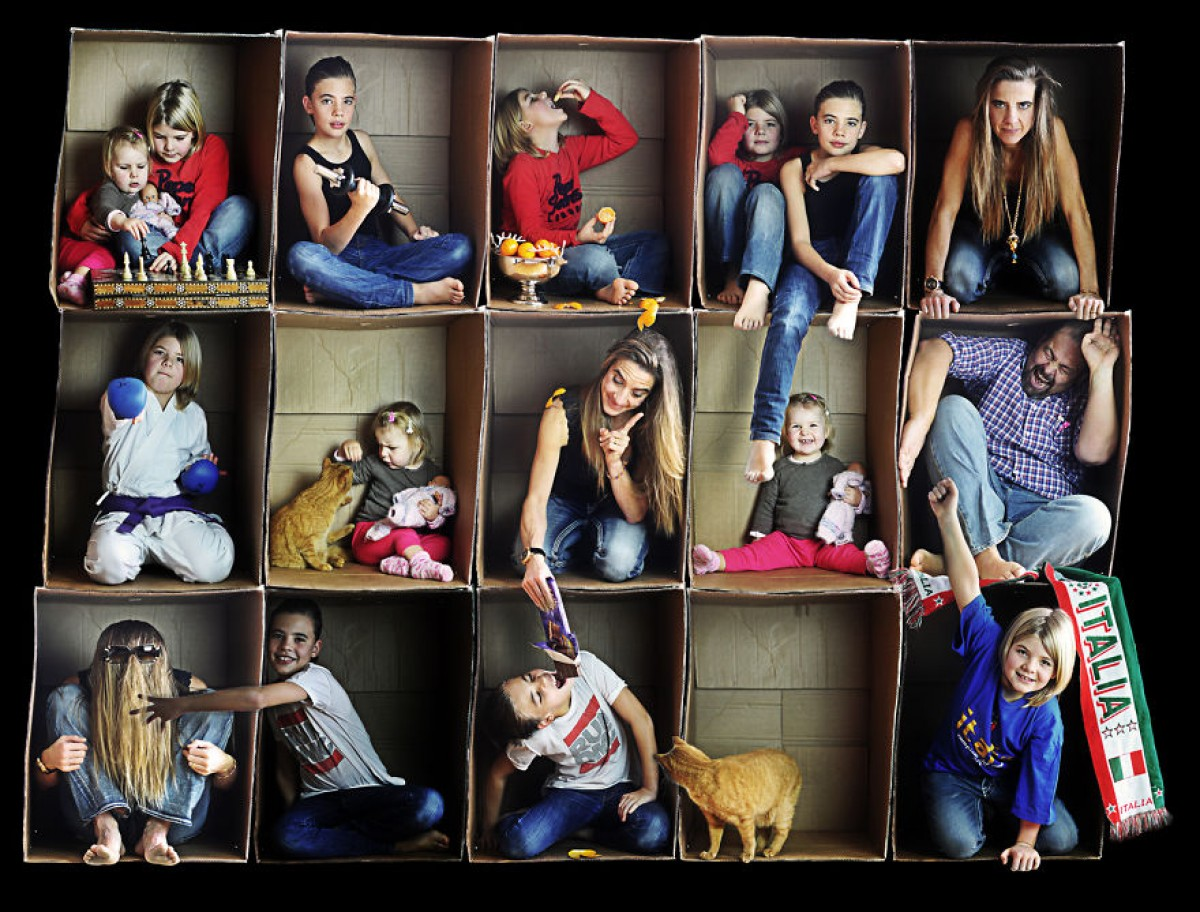 Όλη η οικογένεια σε μια κούτα