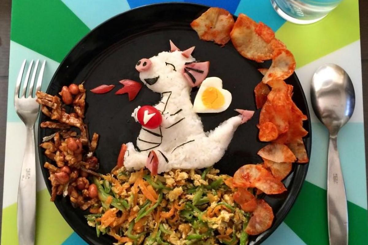Δημιουργικά παιδικά πιάτα με ντεκόρ από βραστά αβγά