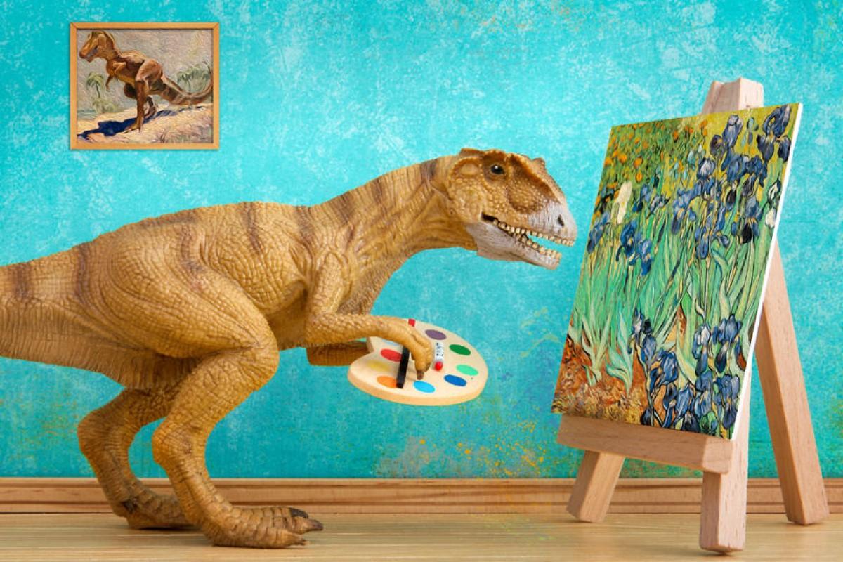 Μπαμπάς και κόρη φωτογραφίζουν παρέα μια οικογένεια… δεινοσαύρων!