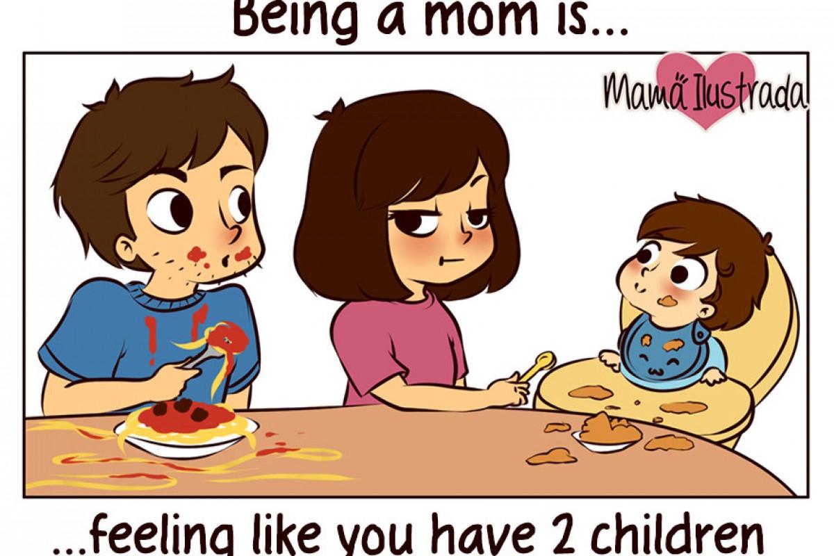 «Είμαι μαμά» σημαίνει… σε σκίτσα!