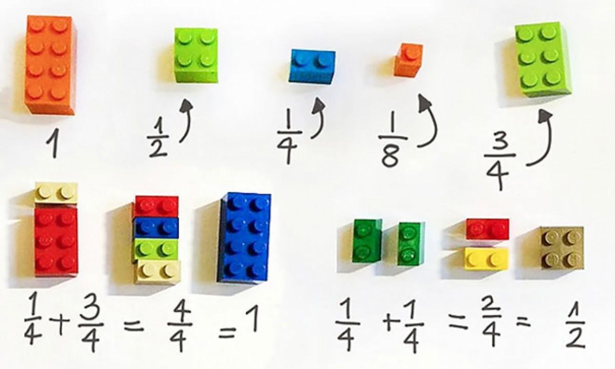 Μαθαίνοντας τα κλάσματα και τους αριθμούς με LEGO