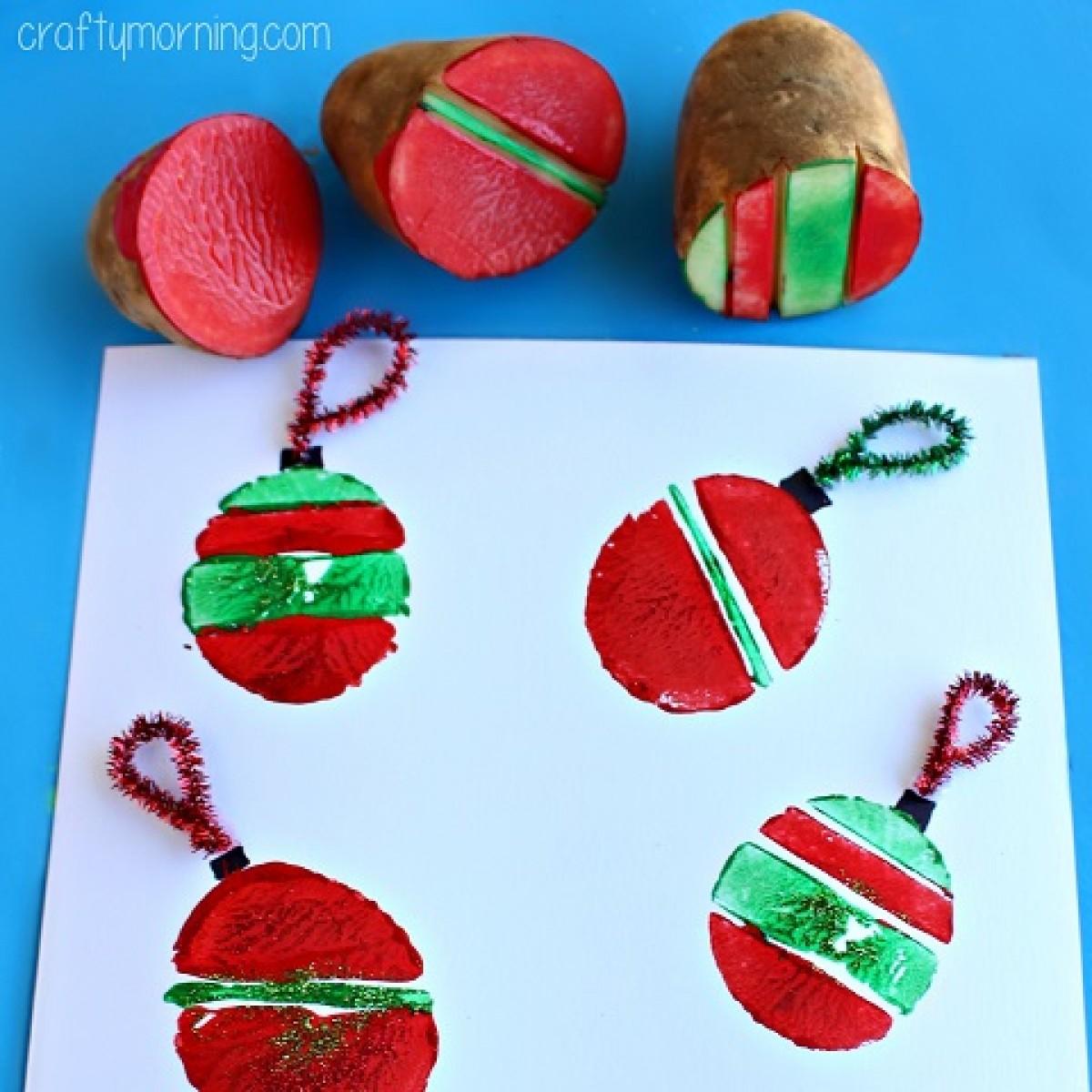 Δημιουργήστε χριστουγεννιάτικες στάμπες από πατάτες