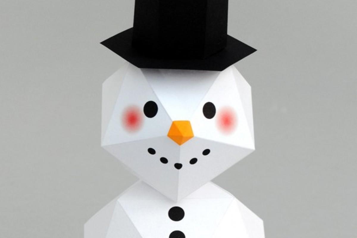Φτιάξτε έναν ιδιαίτερο, γεωμετρικό χιονάνθρωπο