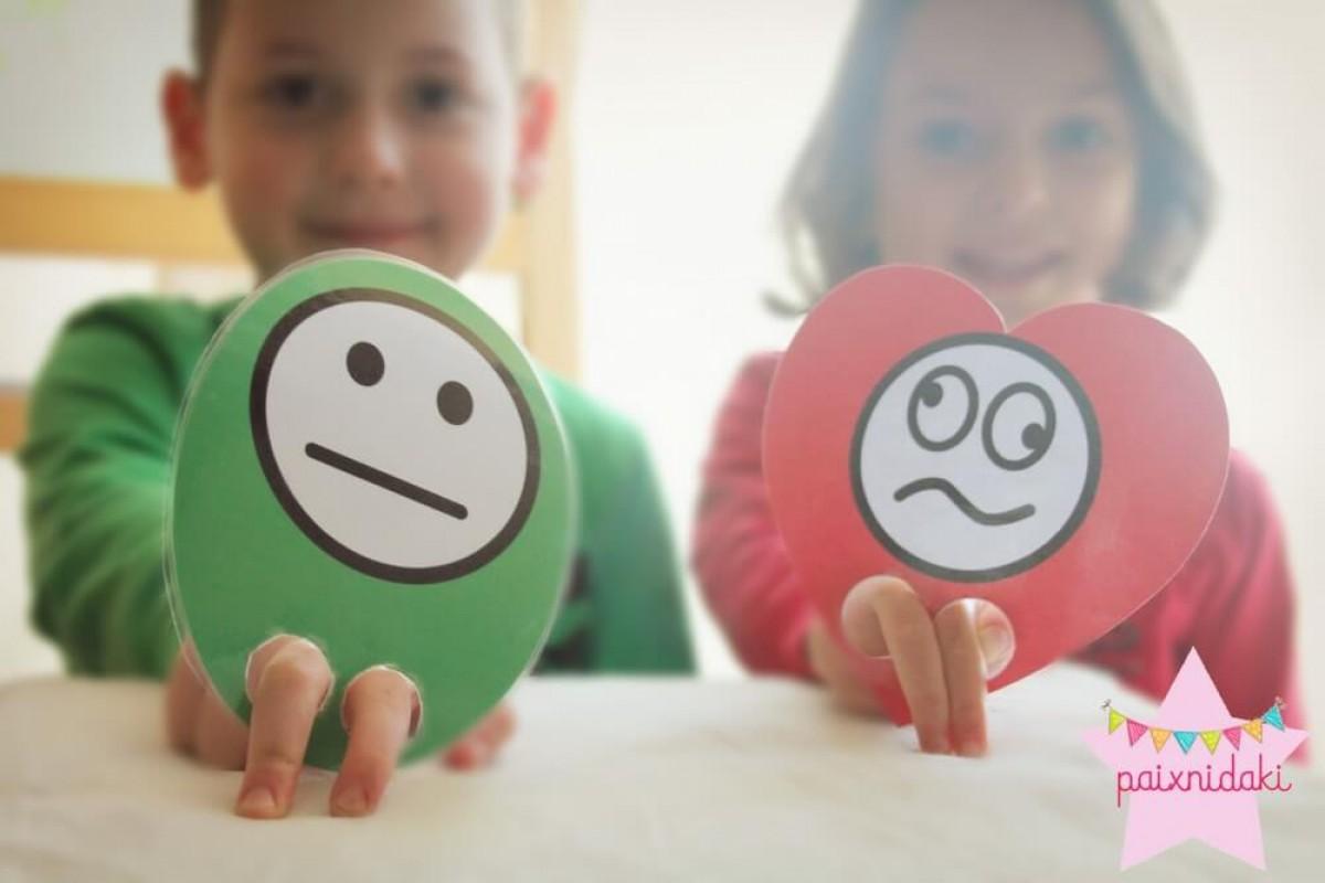 Παιχνίδια με τα σχήματα και τα συναισθήματα | Δωρεάν εκτυπώσιμα για όλους