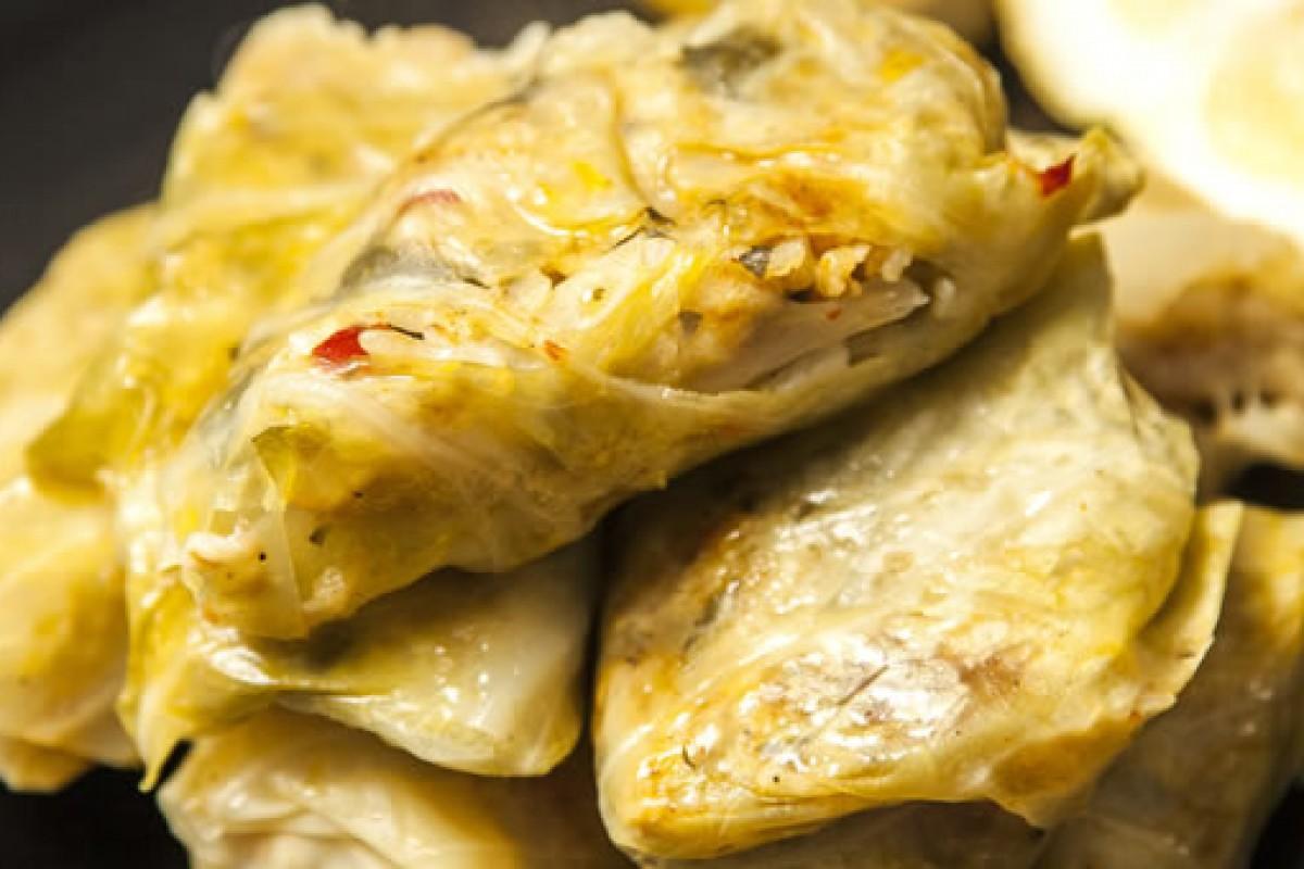 Λαχανοντολμάδες με πατάτα