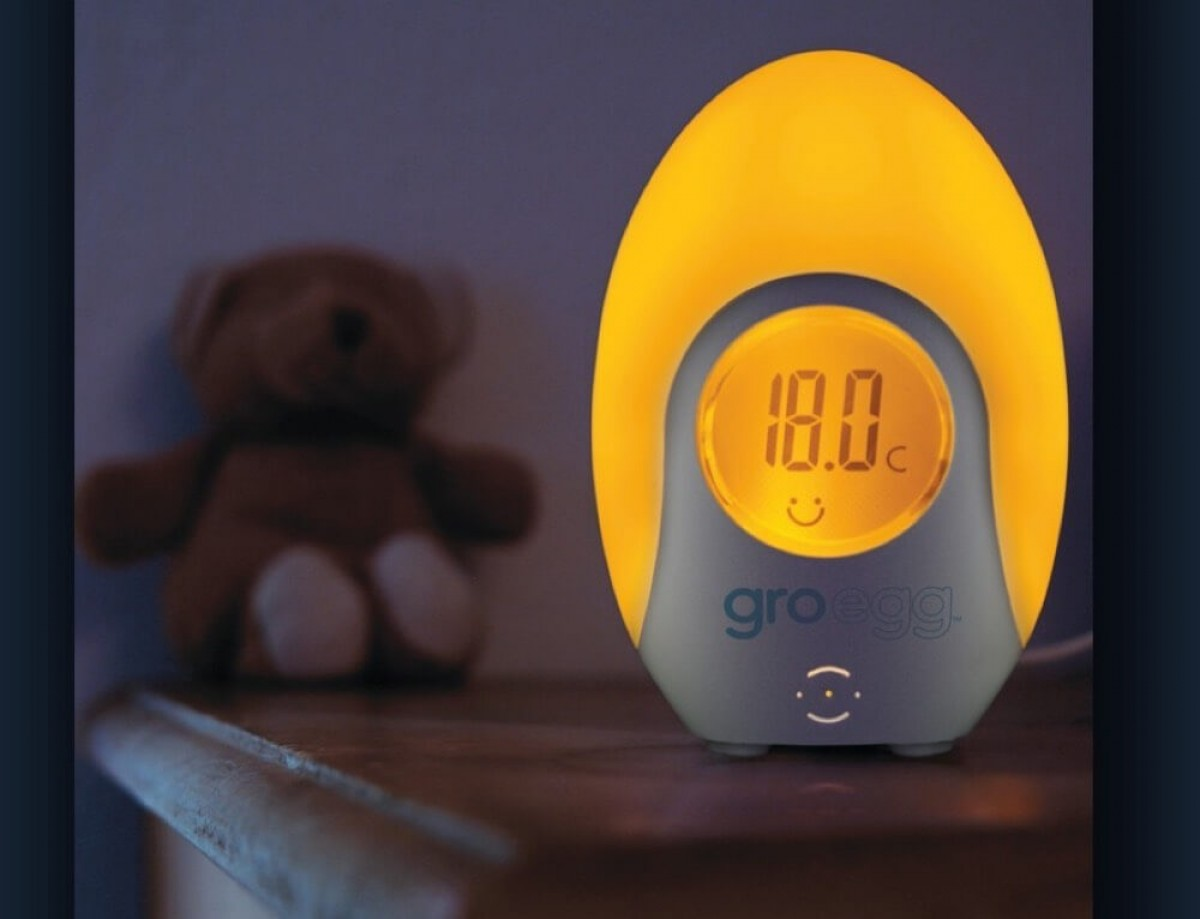 To θερμόμετρο δωματίου Gro Egg αλλάζει χρώμα ανάλογα με τη θερμοκρασία στο δωμάτιο του μωρού σου!