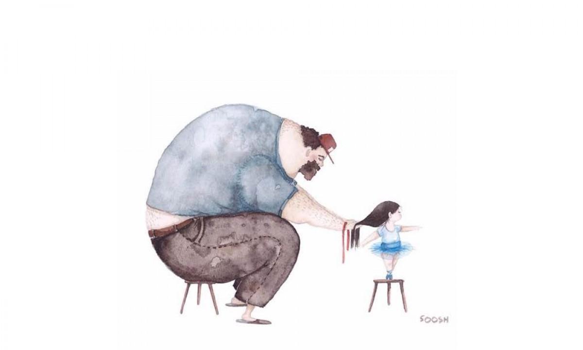 Τρυφερά σκίτσα για την υπέροχη σχέση μπαμπά και κόρης!