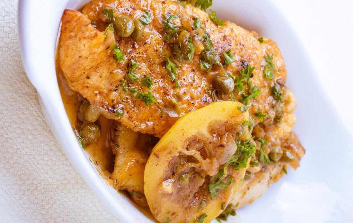Χοιρινό πικάτα με σάλτσα λεμονιού