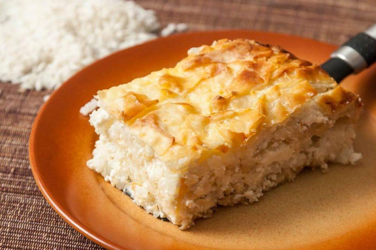 Ρυζόπιτα με φέτα και ανθότυρο