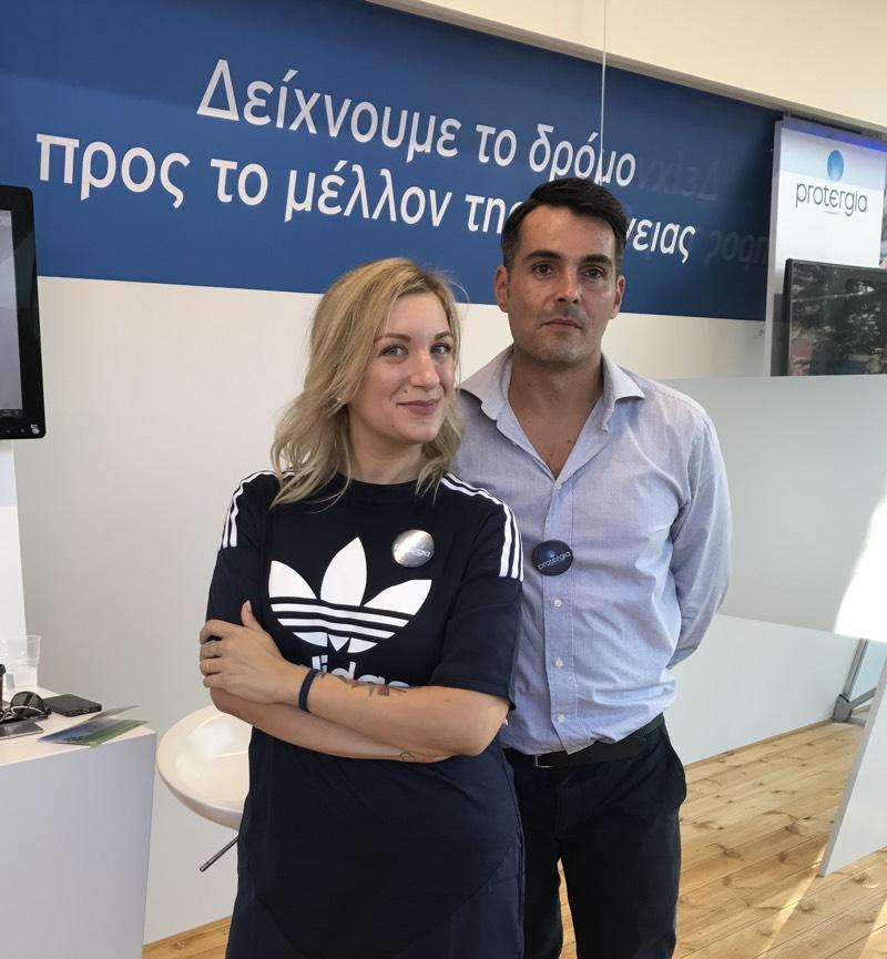 Παρέα με τον Δημήτρη Κοπαράνη στο περίπτερο της Protergia στη ΔΕΘ