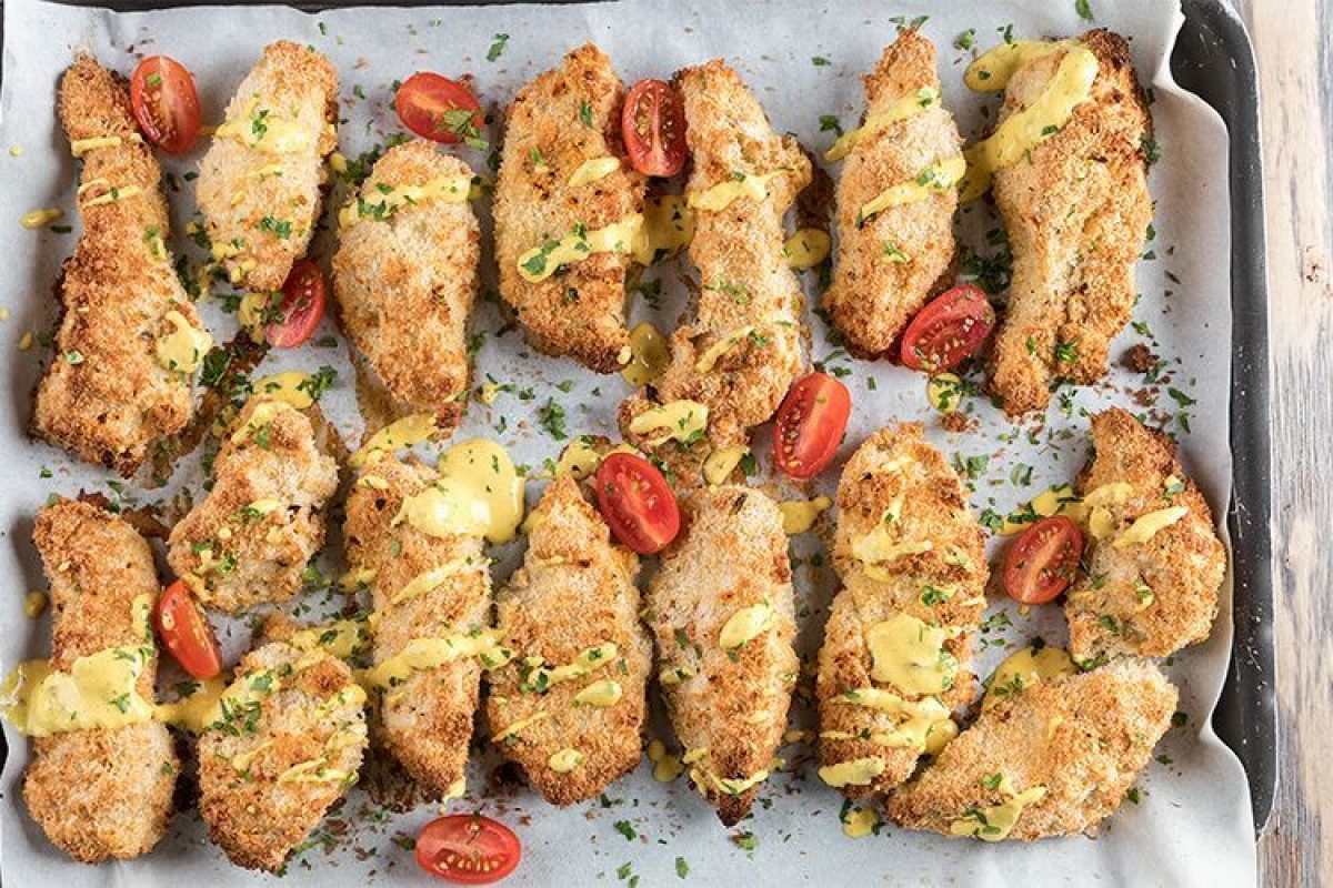 Κοτόπουλο πανέ με ινδοκάρυδο