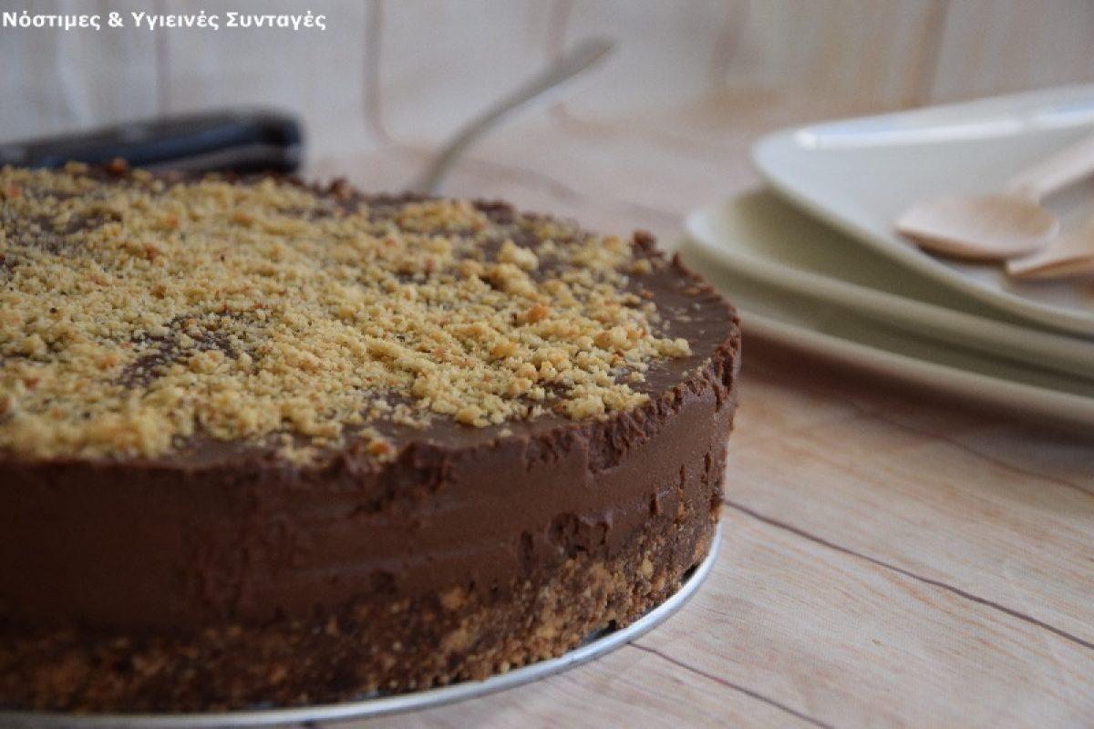 Νηστίσιμη τούρτα Φερρέρο Ροσέ (χωρίς βούτυρο, ζάχαρη, αυγά και ψήσιμο)!