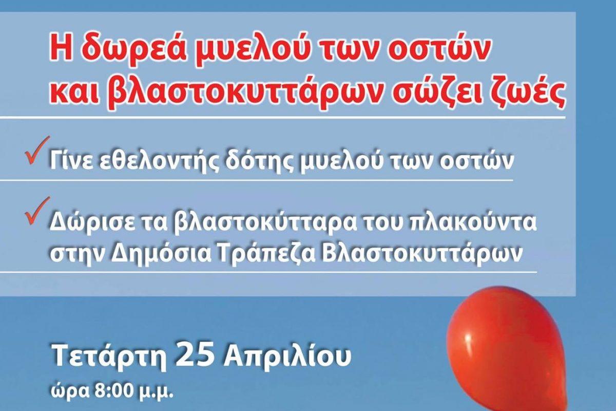 Εκδήλωση για τη δωρεά μυελού των οστών στην Παλαιά Φιλοσοφική Σχολή Αριστοτελείου Πανεπιστημίου