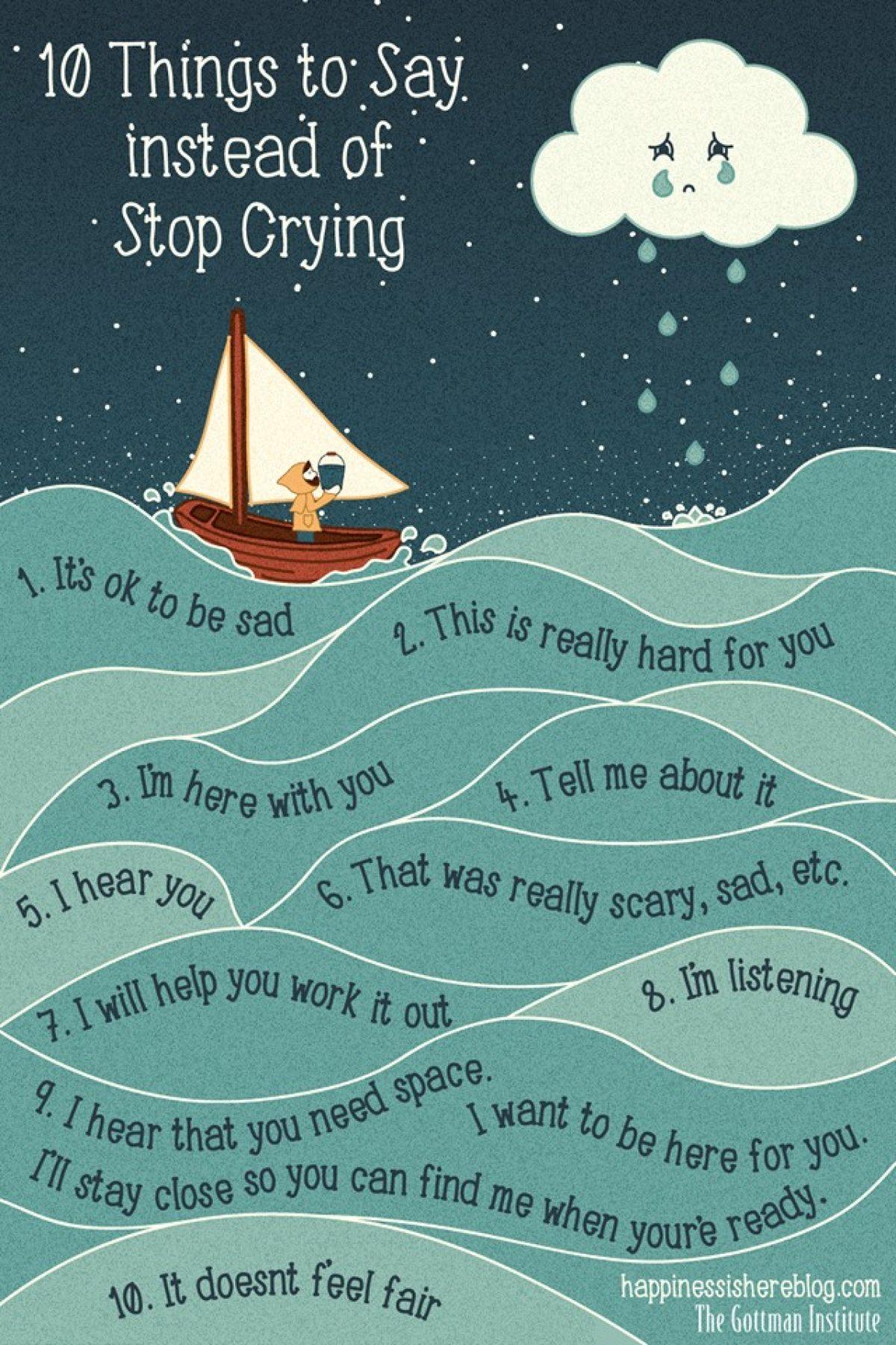 10 φράσεις που μπορούμε να πούμε στα παιδιά αντί του «Σταμάτα να κλαις»