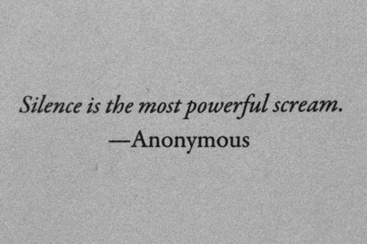 Τον πιο εκκωφαντικό θόρυβο, τον κάνει η σιωπή..