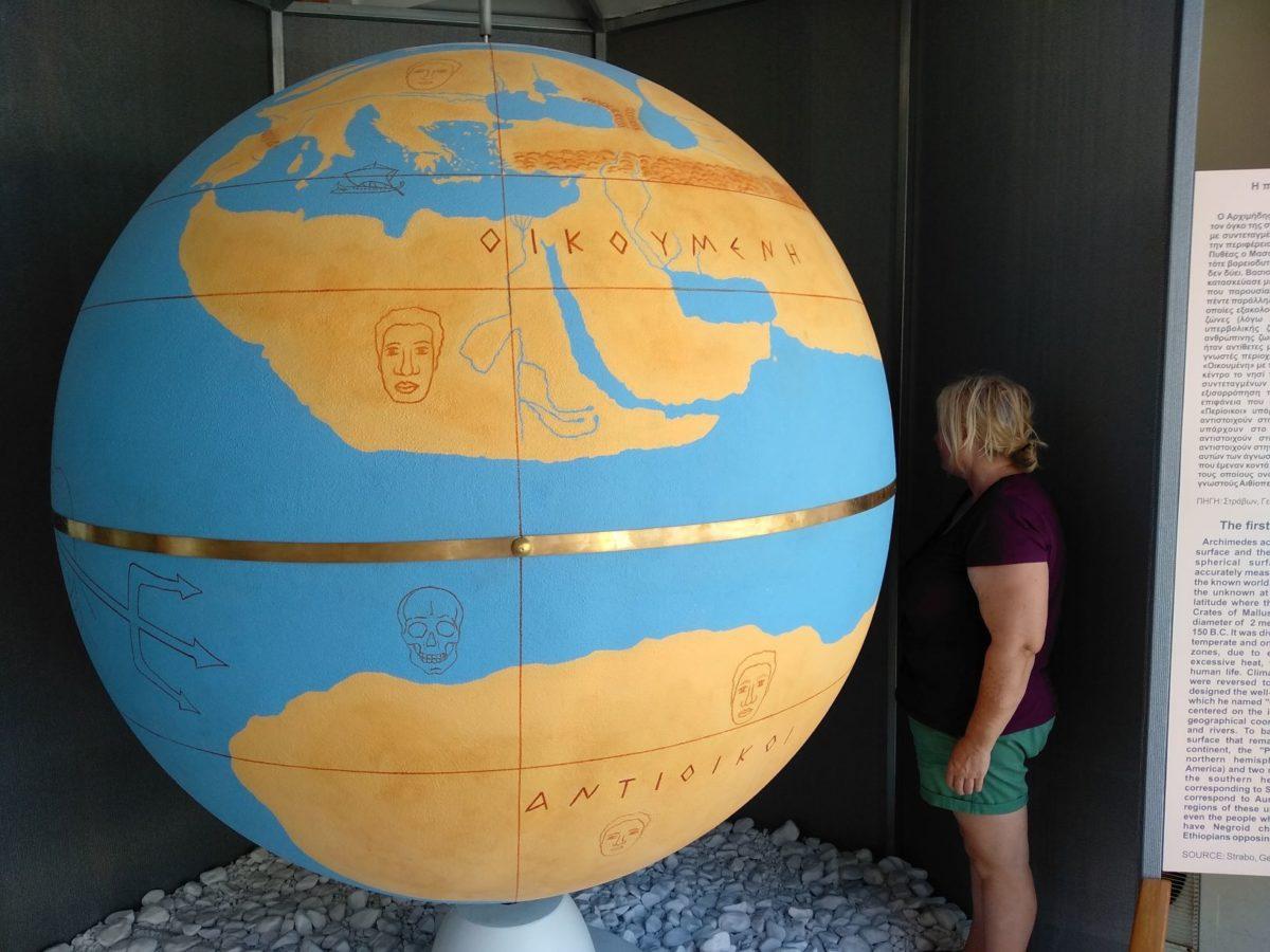 Η Υδρόγειος Σφαίρα του Κράτη παρουσιάζεται για πρώτη φορά παγκοσμίως σε φυσικό μέγεθος στο Μουσείο Αρχιμήδη της Αρχαίας Ολυμπίας!
