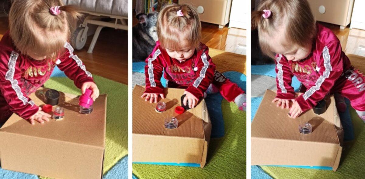 Αυτοσχέδιο παιχνίδι με καπάκια για μωράκια