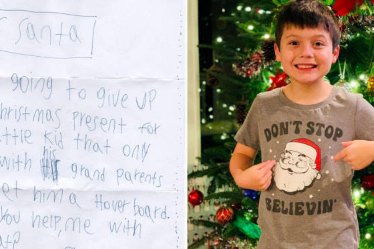9χρονο αγόρι έγραψε στον Άγιο Βασίλη ζητώντας του να δώσει το δώρο του σε ένα άλλο παιδί που πενθεί φέτος