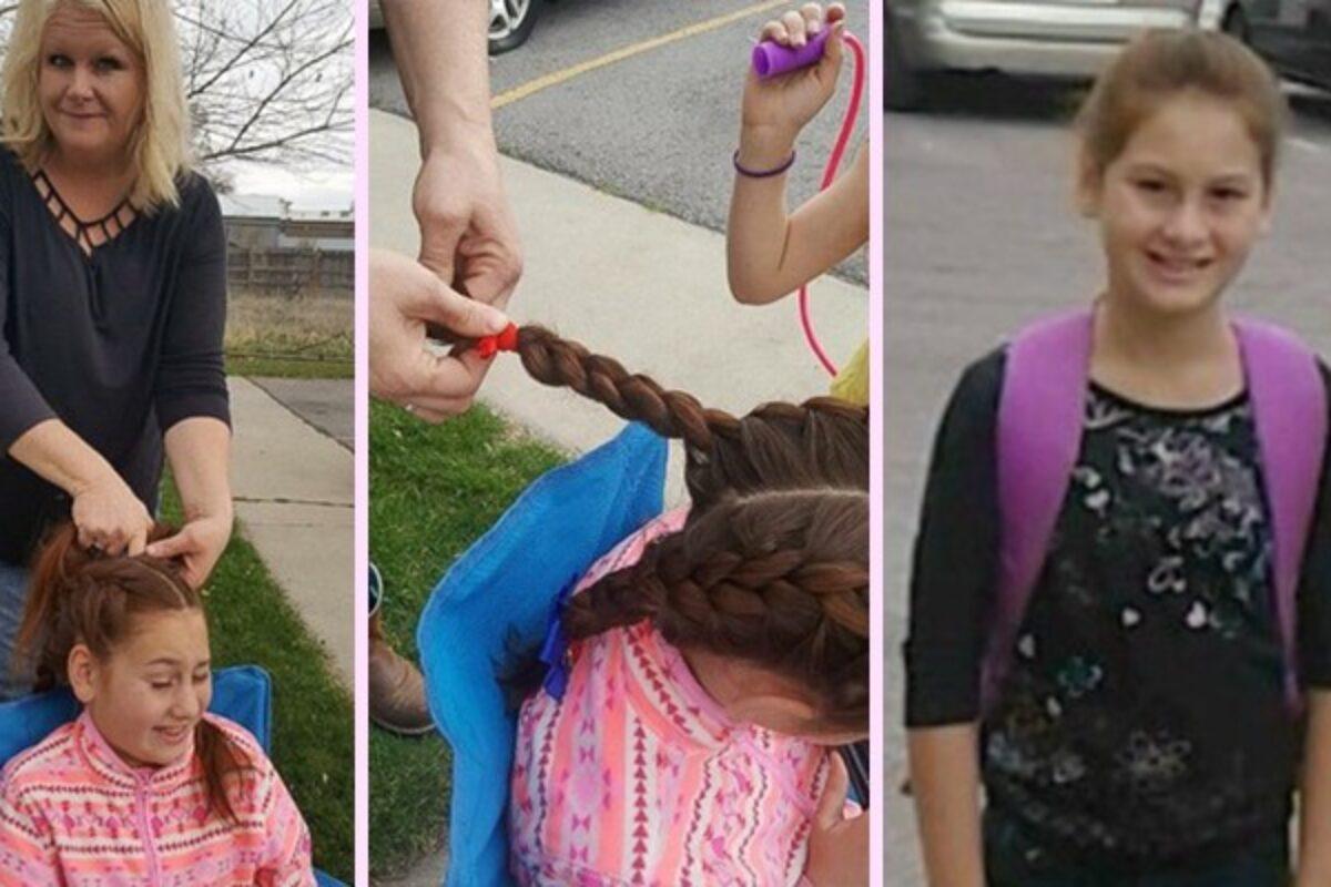 Γυναίκα οδηγός σχολικού κάνει καθημερινά πλεξούδες σε μαθήτρια που έχασε τη μητέρα της