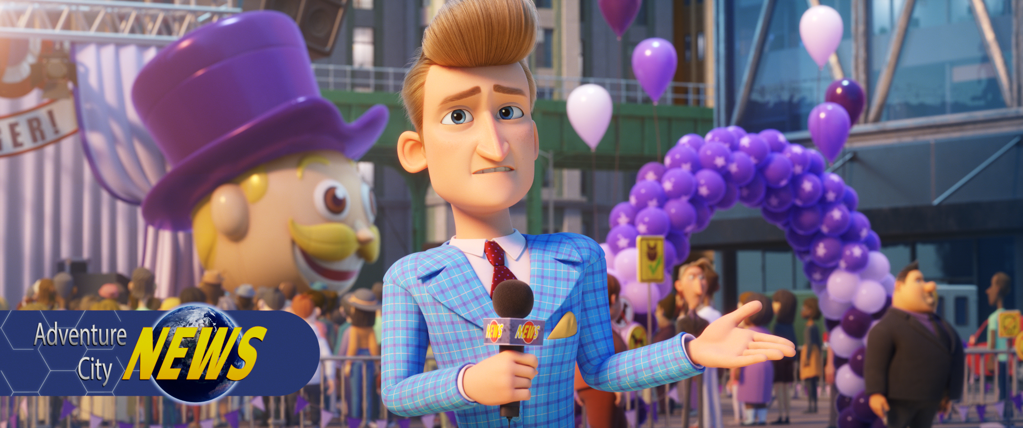Marty Muckracker (voiced by Jimmy Kimmel) in PAW PATROL: THE MOVIE from Paramount Pictures. Photo Credit: Courtesy of Spin Master.