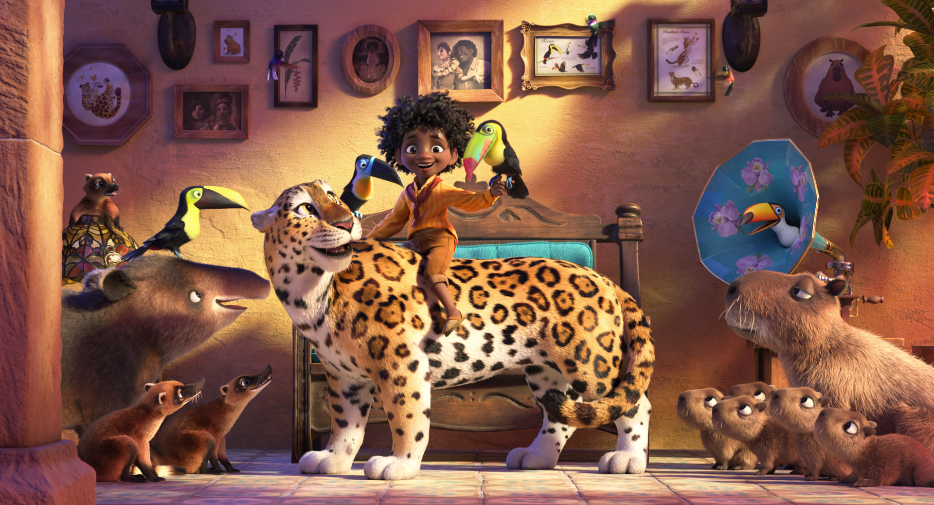 """In Walt Disney Animation Studios' """"Encanto,"""" Antonio may be shy, but his huge heart is his biggest asset—rivaled only by his newly received magical ability to communicate with animals. Directed by Byron Howard (""""Zootopia,"""" """"Tangled"""") and Jared Bush (co-director """"Zootopia""""), co-directed by Charise Castro Smith (writer """"The Death of Eva Sofia Valdez"""") and produced by Clark Spencer and Yvett Merino, """"Encanto"""" opens in theaters on Nov. 24, 2021. © 2021 Disney. All Rights Reserved."""